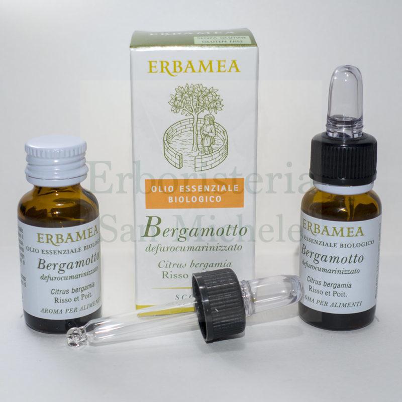 Confezione con contagocce di olio essenziale di bergamotto biologico