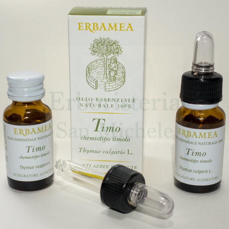boccette di olio essenziale di timo da 10ml di Erbamea